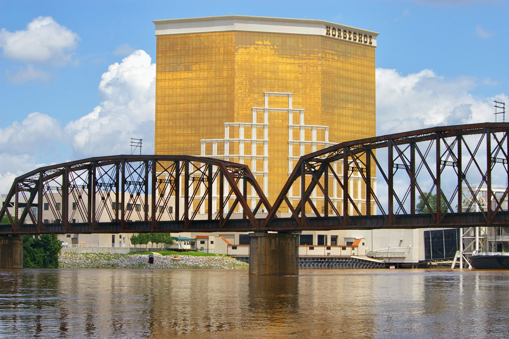 This is a picture of the Horseshoe Casino Hotel in Bossier City. It is the tallest building in Bossier City.