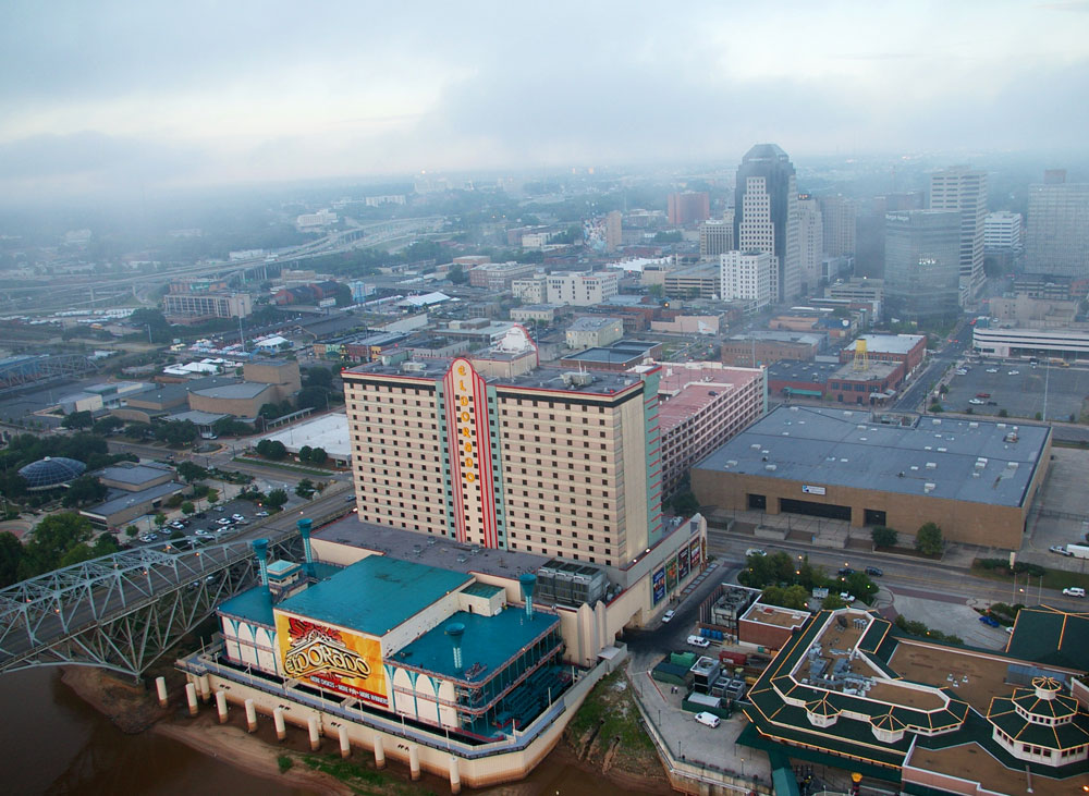 This is a picture of the Eldorado Casino & Hotel in Shreveport Louisiana